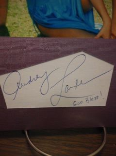 Audrey Landers Autograph Sexy Swimsuit Display Signed Signature COA