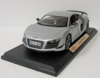 Audi R8 GT Diecast Model Car Maisto Silver 1 18 Scale New in Box