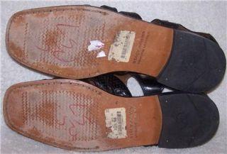 13 46 Stacy Adams Black Patent Leather Sandals Shoe Men