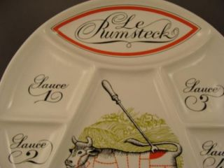 FRENCH PORCELAINE DAUTEUIL RUMSTECK STEAK PLATE