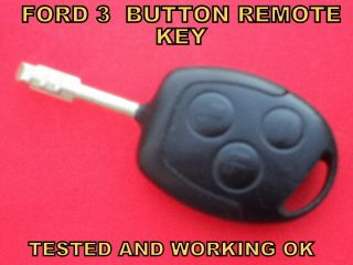 Ford 3 Button Car Van Remote Control Alarm Key Fob Tested and Working