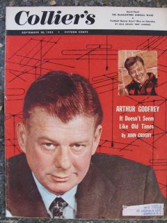 Colliers Magazine September 30 1955 Arthur Godfrey Great Ads