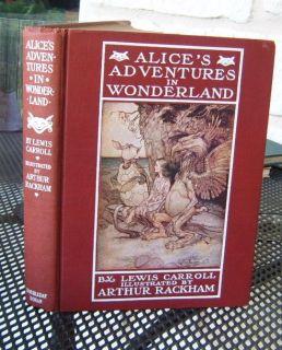 Lewis Carroll ALICE IN WONDERLAND Ill RACKHAM ~ EXCEPTIONAL early U.S