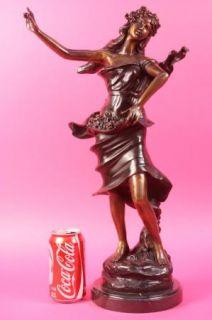 Auguste Moreau Enchanting Beauty Bronze Sculpture Figur