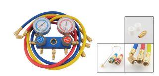 Car Air Conditioning A C Refrigeration Kit Manifold Gauge Set R134a