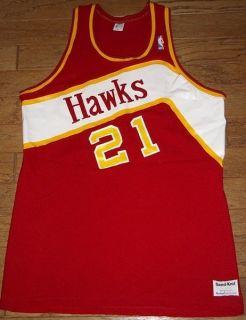 NBA Atlanta Hawks Dominique Wilkins 21 Vintage Sand Knit Basketball