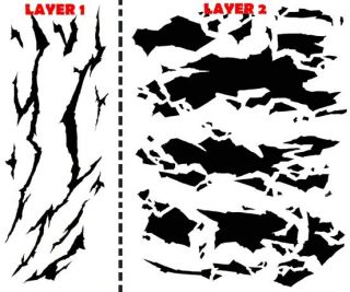 Winter Camouflage Airbrush Stencil Air Brush Template