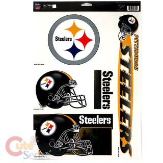 Pittsburgh Steelers Window Cling Decals Auto Accesories 1