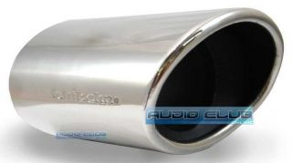 Rolled Oval Slash Cut Car Exhaust Muffler Stainless Tip