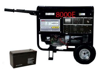 XP Lifan 8000 E Pro Power Gas Generator Electric Key Start w Wheel Kit