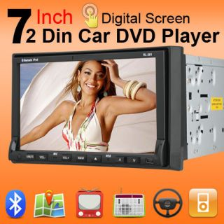 Double Din Stereo Radio Car DVD Player DVD Player iPod Bluetooth
