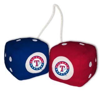 Texas Rangers MLB Baseball Car Mirror Fuzzy Dice