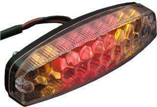 New Amber Red LED Tail Light Universal ATV Dirt Bike