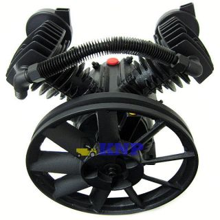 140PSI Dual Piston 2HP Air Compressor Pump 11 Pulley 1200rpm New Auto