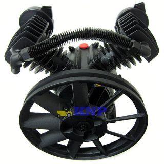 140PSI Dual Piston 2HP Air Compressor Pump 11 Pulley 1200rpm New Auto