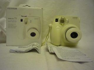 Mini 7S White Instant Film Camera Electronic Shutter Auto Flash