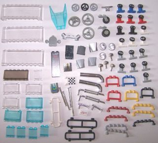Lego Accessories Vehicle Car Parts Pieces Steering Wheel Windshield