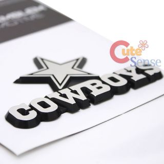Cowboys Team Logo Auto Car Emblem Auto Accessories Chrome Finish