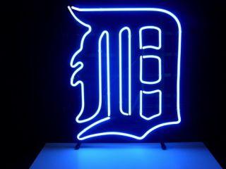 New MLB Detroit Tigers Baseball Real Neon Light Beer Bar Pub Sign