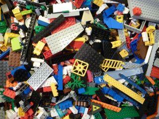 LEGO 500 Bricks pieces Blocks Baseplates Wheels CITY TOWN BULK