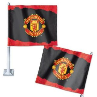 Manchester United Official 12x14x21 Soccer Car Flag