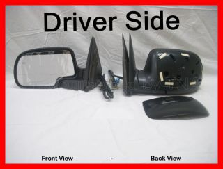 this is a brand new left power heated outside side view mirror product