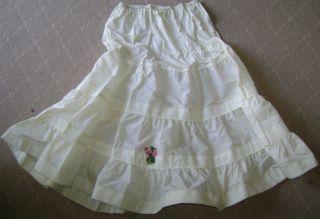 Vintage Ivory Crinoline Petticoat 3 Tier Half Slip Wonderful vintage