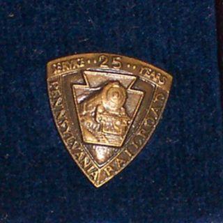 Pennsylvania Railroad 25 Year Service Award pre 1968
