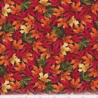 Windham Fabrics Autumn Leaves 32531 Harvest Leaves Rust Multi by The