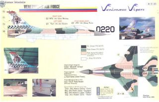 aztec decals 1 72 venezuelan air force f 16 vipers picture