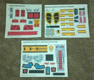 RARE Mighty Morphin Power Rangers DELUXE MEGAZORD Stickers Decals 1993