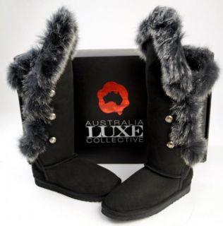 australia luxe new nib nordic angel black tall boots 7