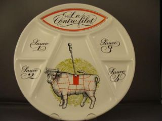 French Porcelaine DAuteuil Le Contre Filet Steak Plate