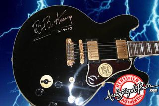 King Autographed Signed Gibson Epiphone Lucille Guitar PSA UACC RD