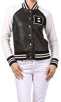 New Love Tree Women Girl Varsity Letter B Baseball Letterman Jacket