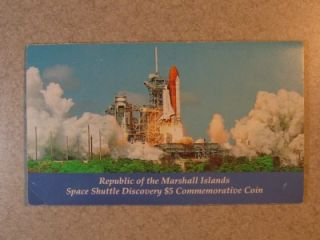 1988 $5 Marshall Islands Space Shuttle Discovery Commemorative Coin