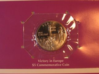 1995 $5 MARSHALL ISLANDS VICTORY IN OPE COMMEMORATIVE COIN