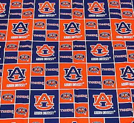 Auburn University Tigers 100 Cotton Fabric Fat Quarter 18x21 Inches