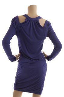 BCBG Max Azria Persian Blue Cutaway Dress New Size L