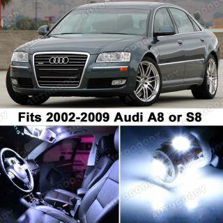 Audi A8 S8 White LED Lights Interior Package Kit D3