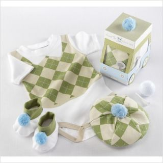 Baby Aspen Sweet Tee 3 Piece Golf Layette Set BA16016NA