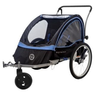 Schwinn Bike Bicycle Trailer Baby Kids Stroller Double 2 Seats Seater