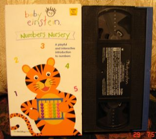 Baby Einstein Vhs NUMBERS NURSERY Educational Playful Intro to Numbers