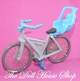 Blue Bicycle Bike Baby Doll Seat Boy Fisher Price Loving Family Dream