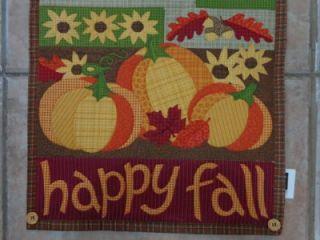 Happy Fall Halloween Autumn Thanksgiving Table Runner Tablerunner