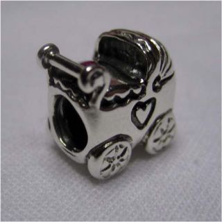 Authentic Pandora Silver Baby Carriage Stroller 790346