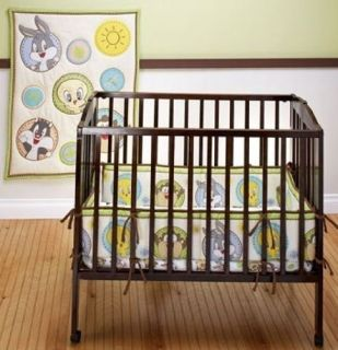 Baby Looney Tunes Portable Crib Bedding 3 Piece Set
