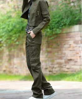 New Ladies Womens Camouflage Cargo Jeans Combat Trousers Army Military