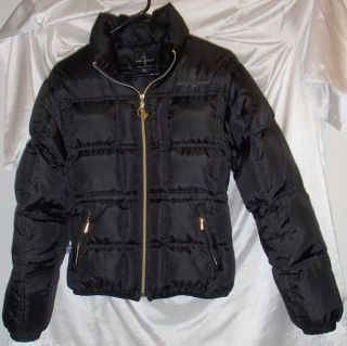 Baby Phat Black Down Winter Coat Jacket Womens s Puffer