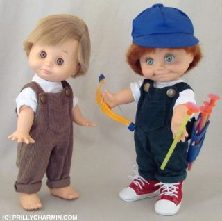 Baby Face Boy Green Overalls Sneakers to Make BF Boy Corduroy Cuteness